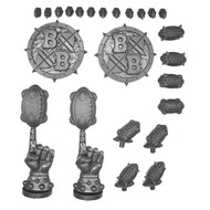 WARHAMMER BITS: BLOOD BOWL ELFHEIM EAGLES - BALLS, TOKENS, COUNTERS, & FACES