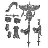 Warhammer 40k Bits: Adeptus Custodes Allarus Custodians - Captain & Vexilus Upgrades