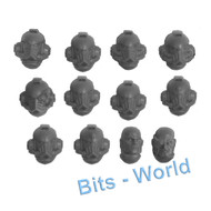 WARHAMMER 40K BITS: HORUS HERESY MARK IV SPACE MARINES - HEADS X12