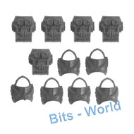 WARHAMMER 40K BITS: HORUS HERESY CATAPHRACTII TERMINATORS - TORSOS X5