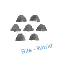 WARHAMMER 40K BITS: HORUS HERESY CATAPHRACTII TERMINATORS - HEADS X7