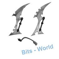 Warhammer 40k Bits: Dark Eldar Raider - 2x Keel Blades