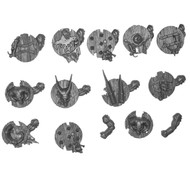 Warhammer Bits: Beasts Of Chaos Gors - Arms W/ Shields X12