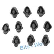Warhammer Bits: Wanderers Eternal Guard/Wildwood Rangers - Head With Hoods 10x