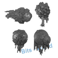 Warhammer Bits: Beastclaw Raiders Stonehorn - Armor Plates 4x