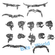Warhammer Bits: Beasts Of Chaos Bullgors - Heads X5
