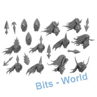Warhammer Bits: Scourge Privateers Corsairs - Heads X13