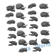 WARHAMMER 40K BITS: TYRANID HORMAGAUNT BROOD - HEADS 12x