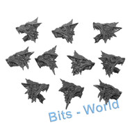 WARHAMMER 40K BITS - SPACE WOLVES FENRISIAN WOLF PACK - HEADS 5x