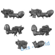 WARHAMMER 40K BITS - SPACE WOLVES SKYCLAWS - BOLT PISTOLS 5x