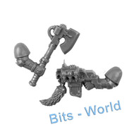 WARHAMMER 40K BITS - SPACE WOLVES SKYCLAWS - POWER AXE/STORM BOLTER