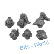 WARHAMMER 40K BITS - SPACE WOLVES SKYCLAWS - HELMETS 6x