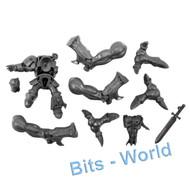 WARHAMMER 40K BITS - TYRANID TOXICRENE/MALECEPTOR - ARMS 3x W/ TERMINATOR