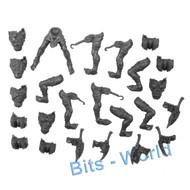 WARHAMMER 40K BITS: DARK ELDAR HELLIONS - BODIES 5x