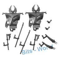 WARHAMMER BITS - VAMPIRE COUNTS GRAVE GUARD - BANNER/MUSIC/CHAMP UPG