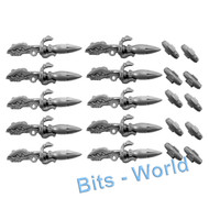WARHAMMER 40K BITS - ELDAR WAVE SERPENT - TWIN-LINKED MISSILE LAUNCHER 5X