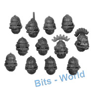WARHAMMER 40K BITS: ADEPTUS MECHANICUS SKITARII - HEADS (VANGUARD) 12X