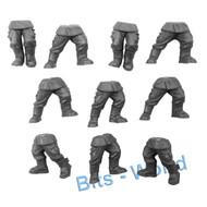 Warhammer 40k Bits: Astra Militarum Cadian Shock Troops - Legs 10x