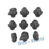 WARHAMMER 40K BITS: SPACE MARINES ASSAULT SQUAD - HEADS 9X