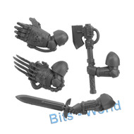 WARHAMMER 40K BITS: SPACE MARINES ASSAULT SQUAD - POWER WEAPONS 4X