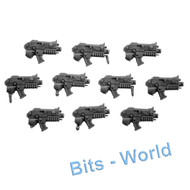 WARHAMMER 40K BITS: SPACE MARINES TACTICAL SQUAD - BOLTERS 10X
