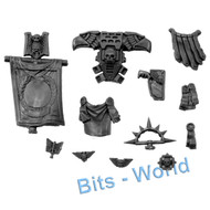 WARHAMMER 40K BITS - SPACE MARINES COMMANDER - BANNER&PACK/DECORATION