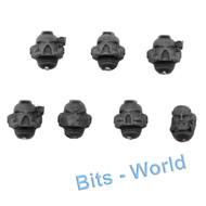 WARHAMMER 40K BITS: SPACE MARINES COMMAND SQUAD - HEADS 7x