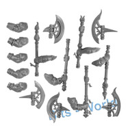 Warhammer Bits: Fyreslayers Hearthguard - Berzerker Broadaxes X5 With Arms