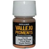 Vallejo Paints: Pigments - Fresh Rust (30 ml)