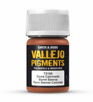 Vallejo Paints: Pigments - Burnt Siena (30ml)