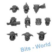WARHAMMER 40K BITS - ORK STORMBOYZ - HEADS 10x