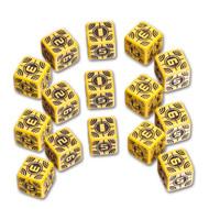 Q-Workshop: Battle Dice Set Sniper D6 Yellow/Black (15)