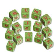 Q-Workshop: Battle Dice Set Soviet D6 Green/Red (15)