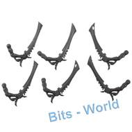WARHAMMER 40K BITS: TYRANID WARRIORS - BONE SWORDS 6x
