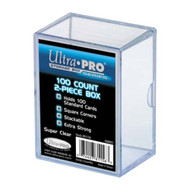 Ultra PRO: 2 Piece 100 Count Clear Card Box