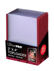 "Ultra PRO: 3"" x 4"" Red Border Toploader (25)"