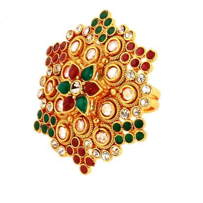 1 Gram Gold Studded Ring 2