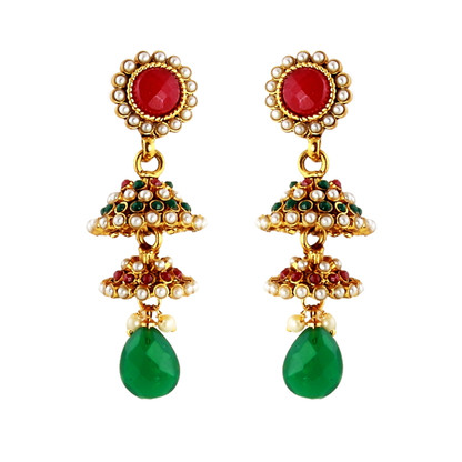 1 Gram Gold Studded Earrings 8