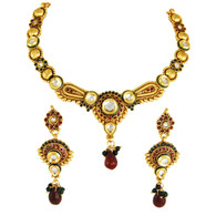 1 Gram Gold Kundan Necklace Set 4