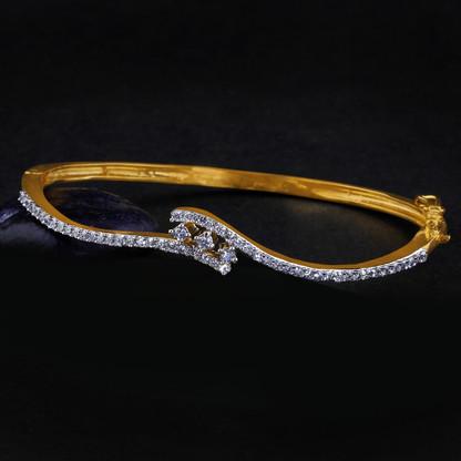 1 Gram Gold American Diamond Bracelet 12