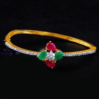1 Gram Gold American Diamond Bracelet 14