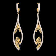 1 Gram Gold American Diamond Earrings 42