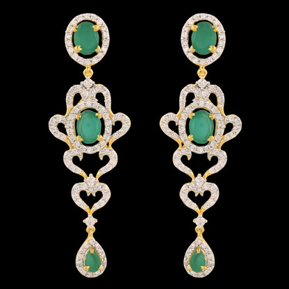 1 Gram Gold American Diamond Earrings 47
