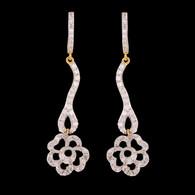 1 Gram Gold American Diamond Earrings 49