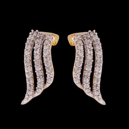 1 Gram Gold American Diamond Earrings 54