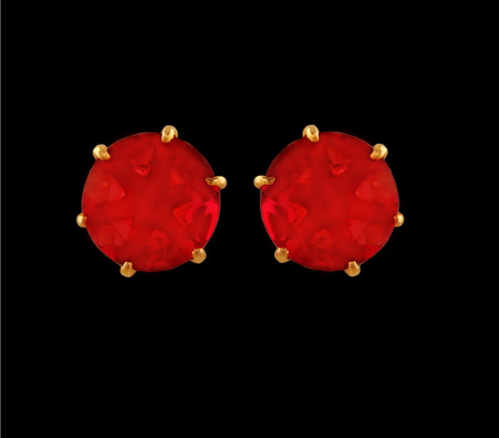 1 Gram Gold American Diamond Earrings 55