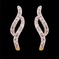 1 Gram GoldAmerican Diamond Earrings 58