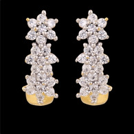 1 Gram Gold American Diamond Earrings 60
