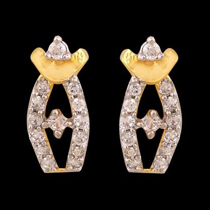 1 Gram Gold American Diamond Earrings 61