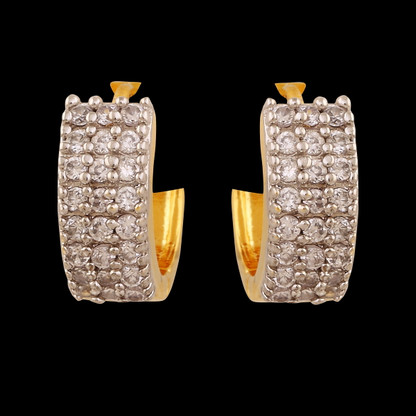 1 Gram Gold American Diamond Earrings 63
